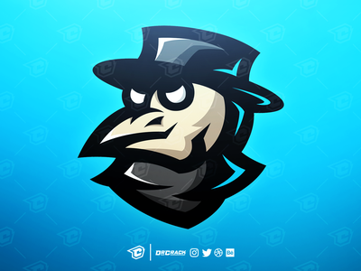 Premade plague doctor mascot logo esport gaming esports drcrack branding brand plague doctor plague mascot logo mascot logo premade