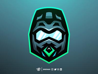 Motocross Helmet Logo helmet motocross drcrack mascot logo mascot branding logo brand