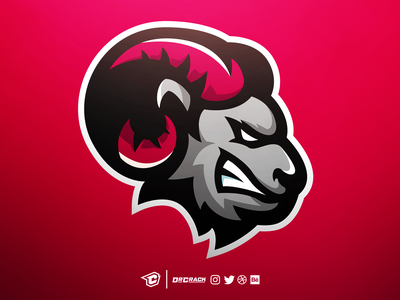 Goat Mascot Logo mascot gaming esports twitch brand mascot logo logo drcrack