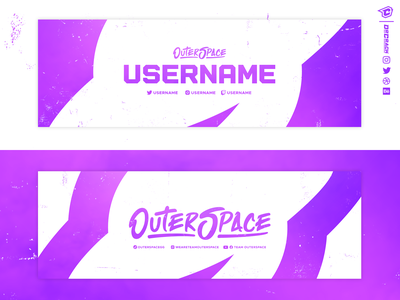 Outerspace Twitter Headers ufo outerspace alien space banner header social media socials twitter esport branding drcrack esports gaming logo brand