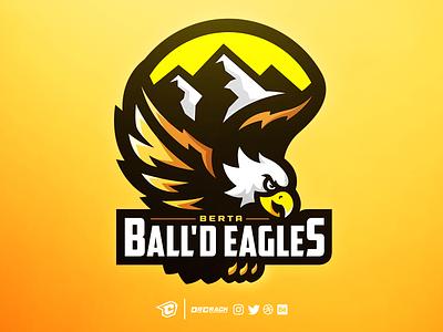 Berta Ball'd Eagles Logo mountains alberta bird mascot logo mascot eagles eagle branding drcrack logo brand