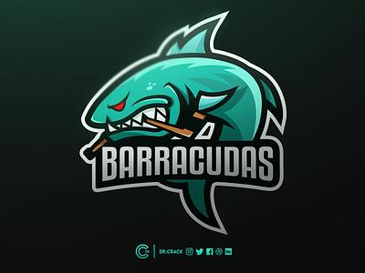 Barracudas Mascot Logo ice hockey hockey fish barracudas barracuda dr.crack branding mascot logo mascot logo brand drcrack