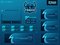 Tragiic Gaming Twitch Package Design
