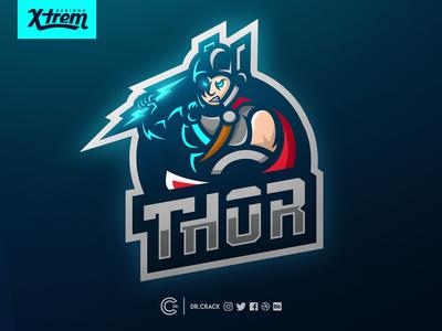 Thor Mascot Logo