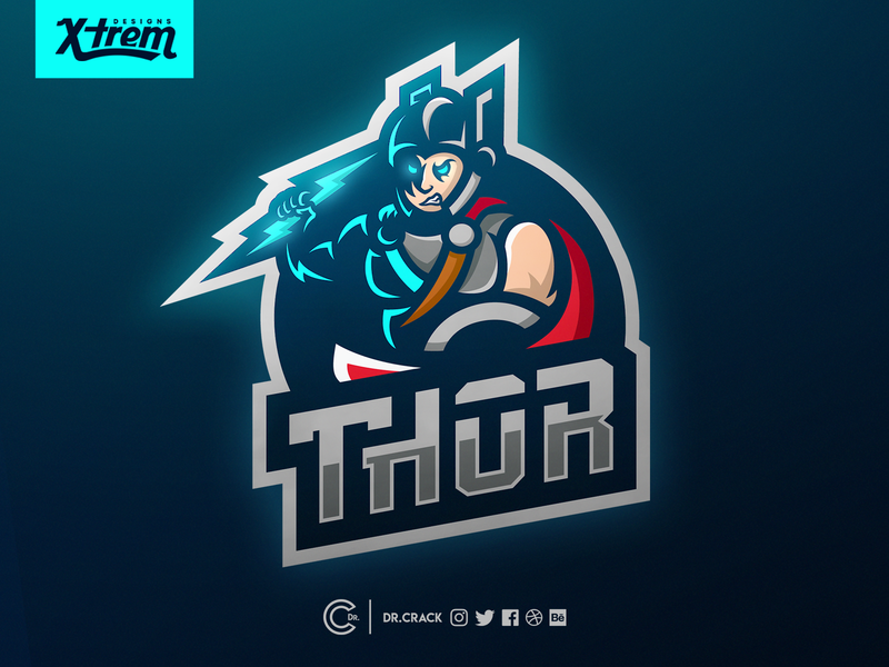 Thor Mascot Logo By Alec Des Rivieres On Dribbble