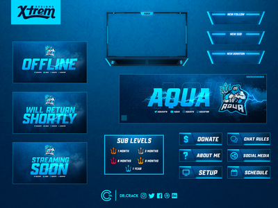 Aqua Twitch Package