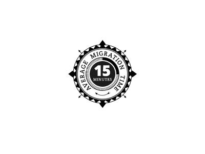 15 minutes badge / C2C badge ribbon c2c 15 minutes fast average time infographic icon illustration