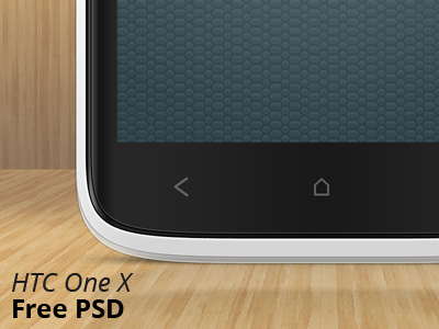 Free Htc One X PSD free psd freebie free phone android ui promo htc one x htc one x