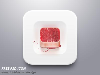 Free psd icon meat  sattu net