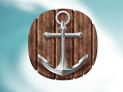 Anchor icon icon web design web design anchor icons wood marine water