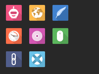 Home Flat Icons / C2C