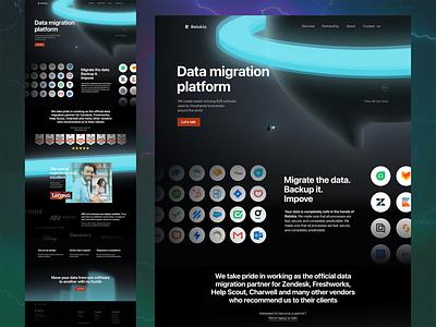 R - Homepage 2021 red blue black dark illustration web web design ui