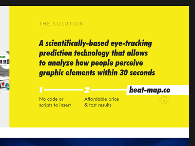Heat-Map.Co as a solution prediction presentation typography yellow solution slide heat-map