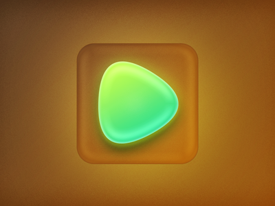 Play mint  yellow green glass mint run android play iphone ios icon app