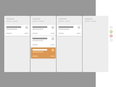 Zendesk CRM deals board (Animation) dashboard interface interaction gif flat ux app zendesk crm board animation great job sketch principle green gray vector orange white