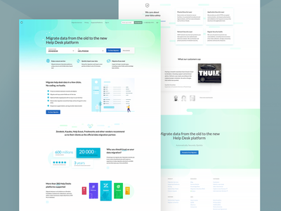 HDM - Homepage illustration green icons app homepage page design ai data creative clean flat white webdesign ux ui landing