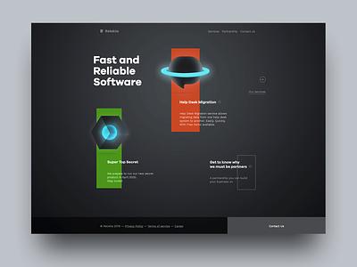 Relokia - Products minimal web design black dark landing landing page illustration flat web icons design ui ux vector typography icon logo website