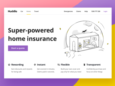 Huddle Home Insurance Landing Page