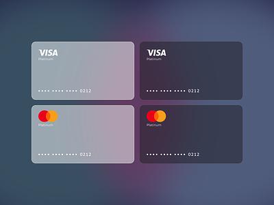 Glassmorphism visa/master card 2020 trend 2021 ui trend mastercard visa card card glassmorphism freebie dailyui user inteface ui