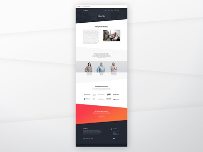 About Us Mockup about us redesign it company ui web design