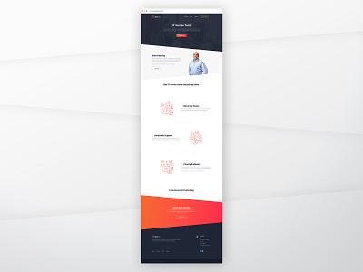 Home Mockup introduction homepage it company web design