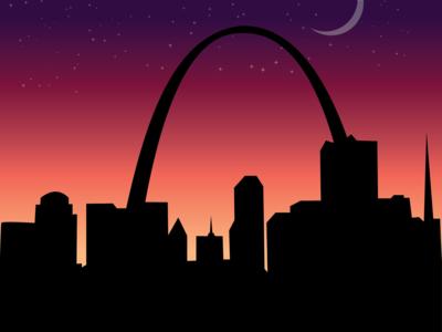St.Louis Night Poster