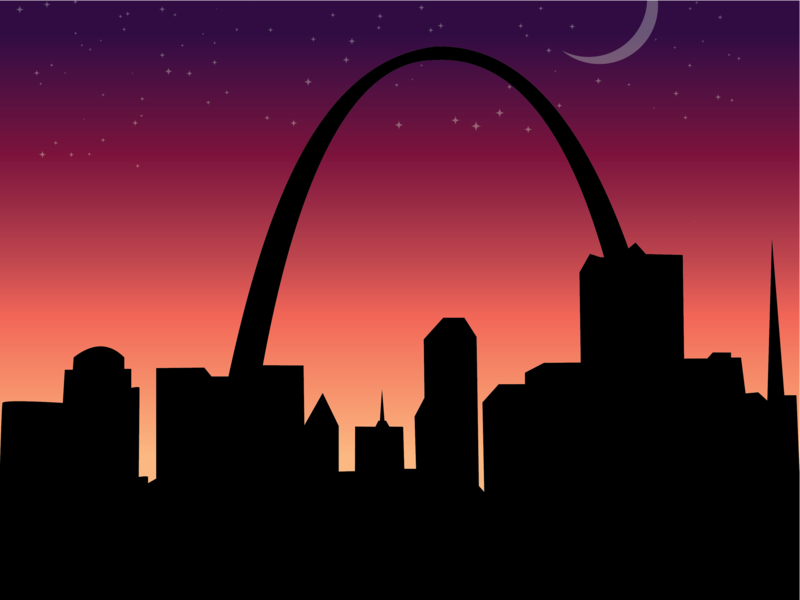 St.Louis Night Poster vector poster design illustration