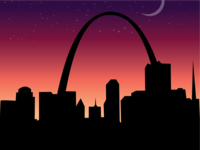 St.Louis Night Poster