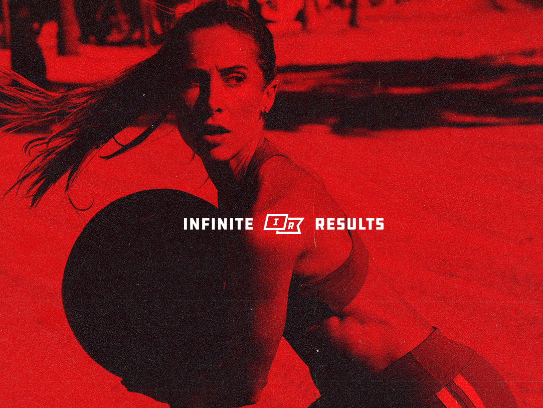 Infinite Results - Photo treatment identity design identity branding icon design gym fitness design logo