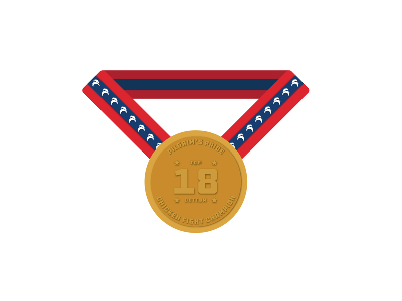 Pilgrims pride gold medal icon chicken gold medal