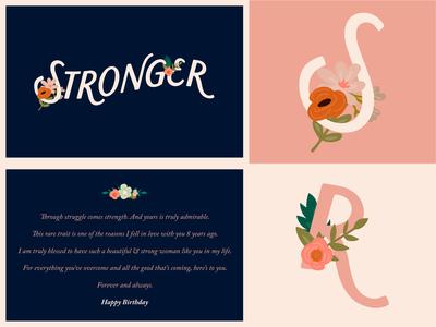 Stronger ( Birthday Card )