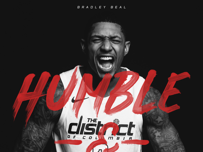 "Bradley Beal ""Humble & Hungry"" poster poster nba brush identity branding sports design sports branding sports basketball"