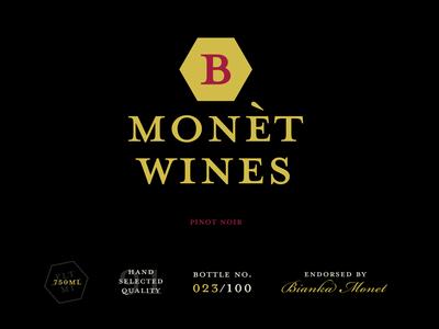 B MONET WINES - Identity Design