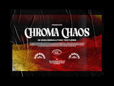 Chroma Chaos 01 typography western logo houston texture pack texture