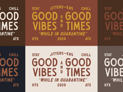 Jitters Good Vibes merch quarantine austin texas houston cocktails spirits espresso coffee jitters