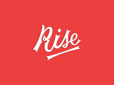 Rise Script lettering script rise