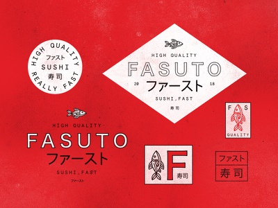 Fasuto branding texas houston quality fast sushi