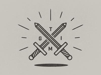 Thank God It's Monday  tgim monday pencil sword