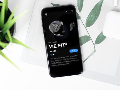 🎧🎵 [Concept] VIE2 earphones store page digital website ux appdesign webdesign web app designer design ui