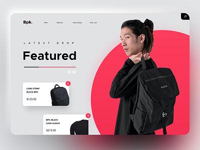 🛒🧥 [Concept] Fashion ecommerce website branding dribbble digital ux website appdesign webdesign web designer design
