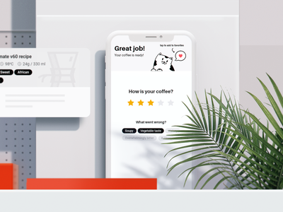 ☕🌿 Coffee app mockup web coffee render 3d art 3d digital website ux appdesign app designer ui design