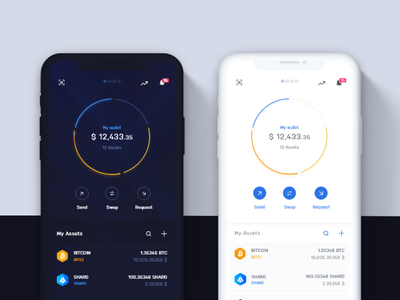 Infinity Wallet Mobile themes cryptocurrency crypto wallet app design mobile app mobile ui design ui digital ux appdesign app designer