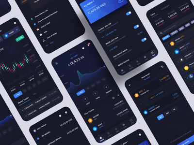 Infinity Wallet Mobile App bitcoin coins cryptocurrency exchange crypto exchange exchange trade market history chart assets crypto cryptocurrency wallet mobile app mobile ui digital ux appdesign app ui