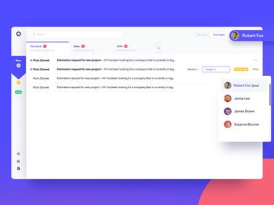 📨 Shared Inbox user assigment web desktop design digital mail mailing inbox webdesign ux app designer design ui