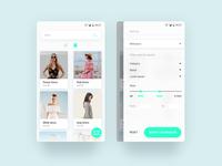 E-Commerce product search UI