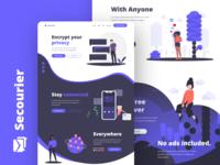 Messaging app landing page
