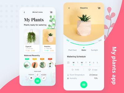 🍃🌱 Smart Plant Watering 🌱 🍃 smart watering water garden plant webdesign designer digital ux appdesign app ui design