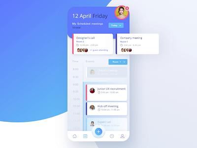 📅 Company conference room booking appdesign dribbble interaction design animation light dark digital ux app designer ui design