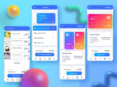 💳 Credit card checkout blue mobile trends modern 3d dailyui card checkout android dribbble digital ux appdesign app web designer design ui