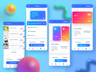 💳 Credit card checkout blue mobile trends modern 3d dailyui card checkout android dribbble digital ux appdesign app web designer design ui
